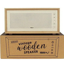 Load image into Gallery viewer, Vintage Wooden Speaker - Grey Canvas or White Scandi