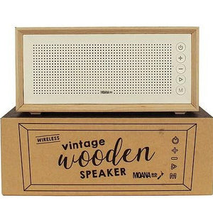 Vintage Wooden Speaker - Grey Canvas or White Scandi
