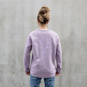 Pocket Sweatshirt Logo - Lilac