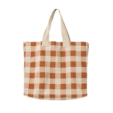 Load image into Gallery viewer, Gingham Beach Bag