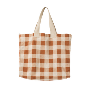 Gingham Beach Bag