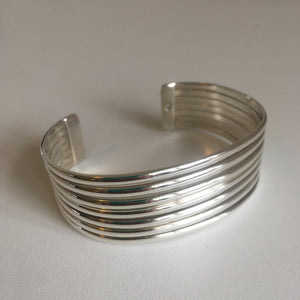 Sterling Silver Banded Cuff