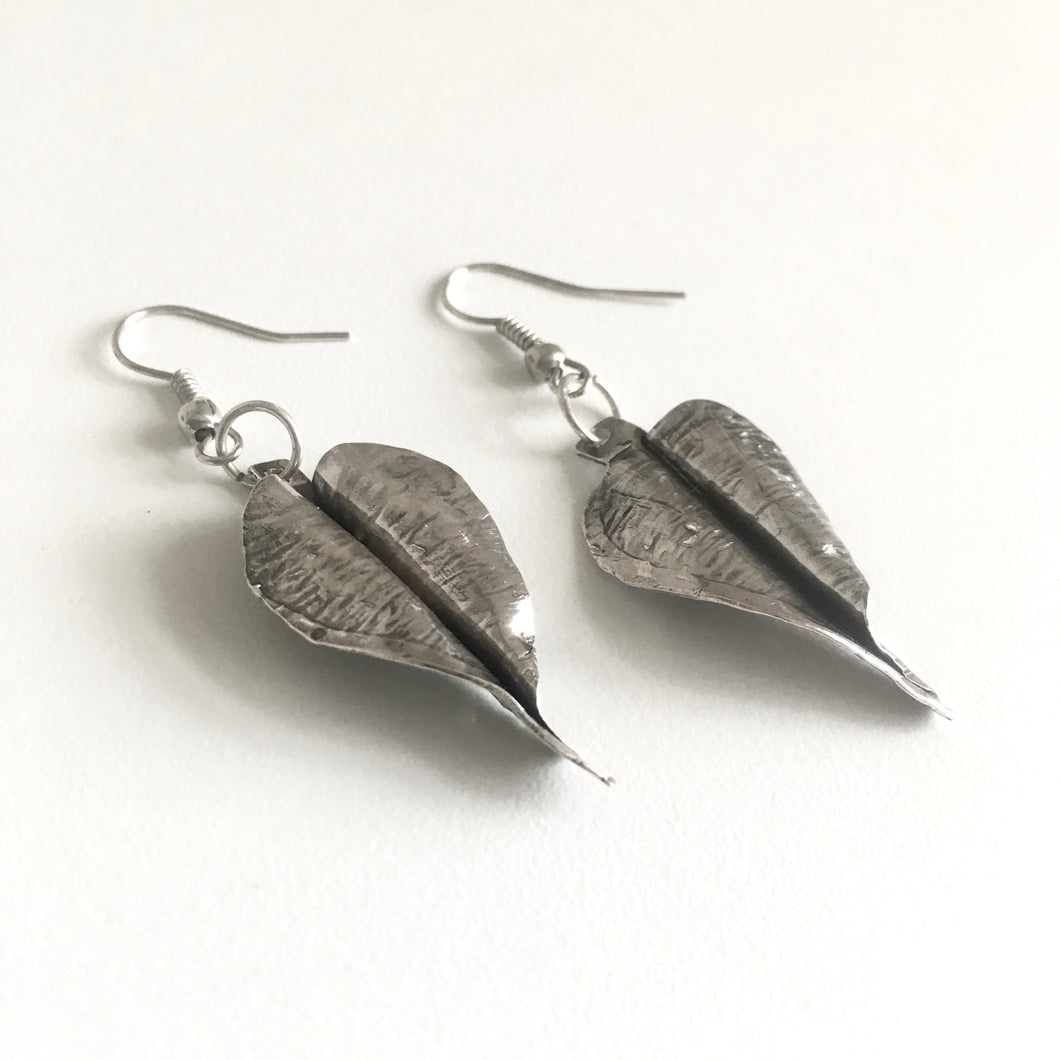 Leaf Earrings - Sterling Silver