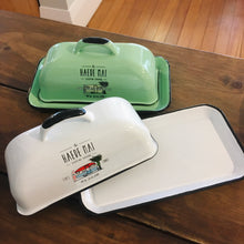 Load image into Gallery viewer, Haere Mai Enamel Butter Dish