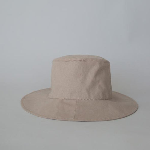Linen Bucket Hat - Bone