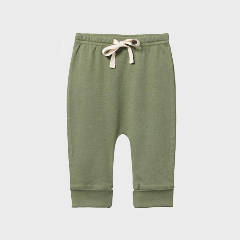 Cotton Drawstring Pants - Olive