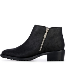 Load image into Gallery viewer, Acton Silver Zip Ankle Boot -  Metallic Black
