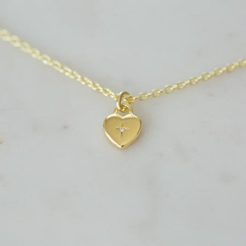 Sweetheart Necklace - Gold & Silver