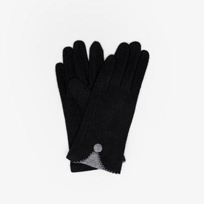Gloves Black With Grey Detail