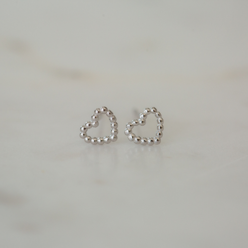Dotty Love Studs - Silver