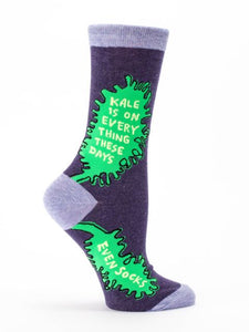 Kale is on Everything These Days - Crew Socks