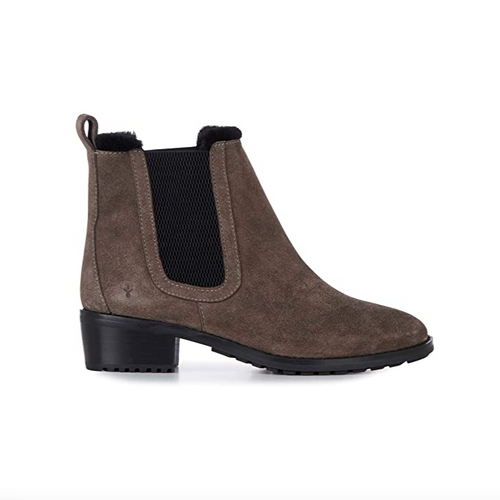 Ellin Suede Ankle Boot - Smoke