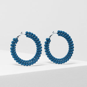 Folke Earring - Teal Blue