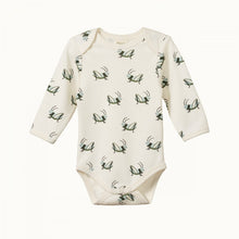 Load image into Gallery viewer, Cotton Long Sleeve Bodysuit - Grasshopper Print