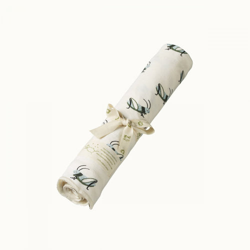 Cotton Swaddle Wrap - Grasshopper
