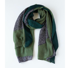 Load image into Gallery viewer, Herringbone Stripe Scarf + Colours