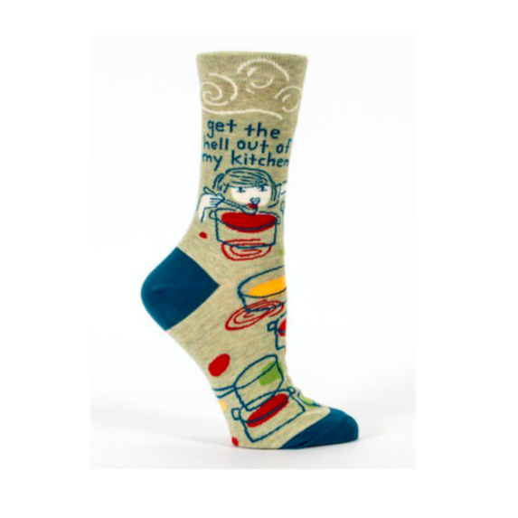 Get the Hell Out of My Kitchen - Crew Socks