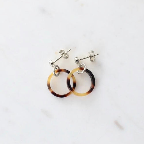 Little Tort Hoops Dark - Gold & Silver