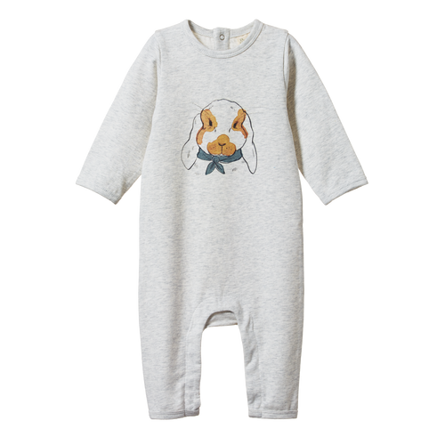 Long Sleeve Quincy Romper - Barnaby Bunny Print