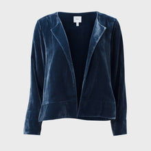 Load image into Gallery viewer, Luxe Velvet Jacket - Sea