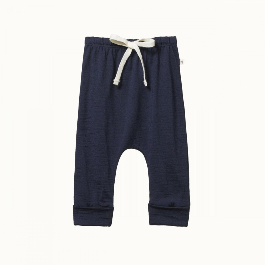 Merino Drawstring Pants - Navy