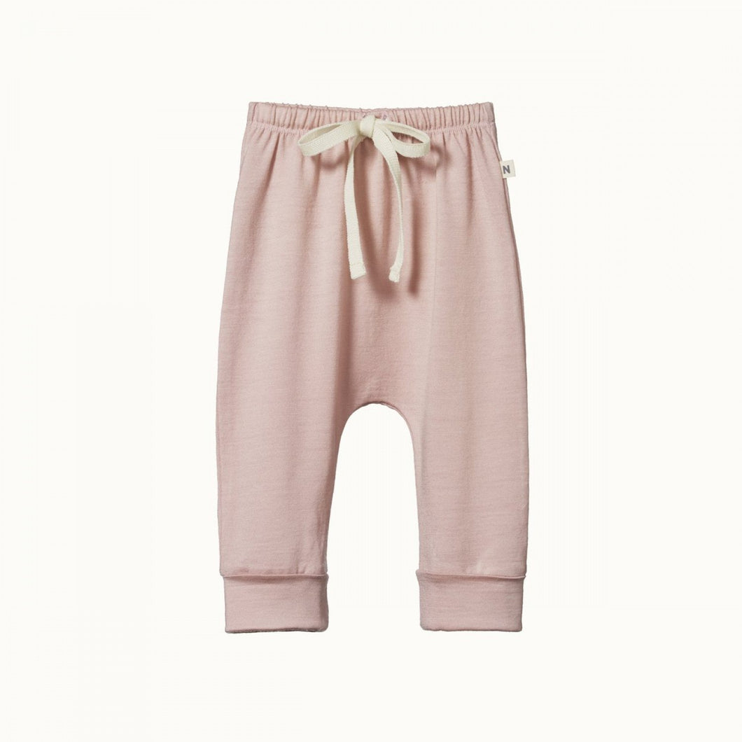 Merino Drawstring Pants - Rose Bud