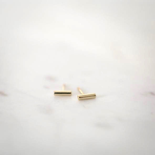 Mini Bar Studs - Gold & Silver