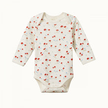 Load image into Gallery viewer, Cotton Long Sleeve Bodysuit - Mushroom Valley Print