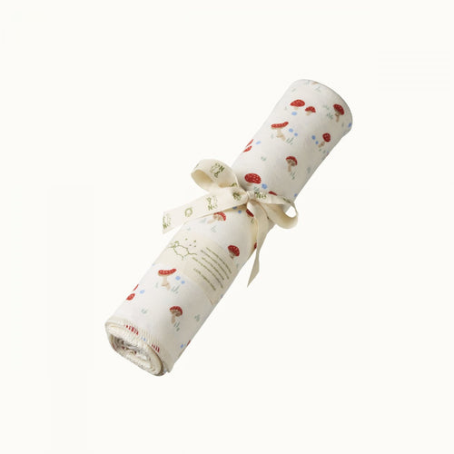 Cotton Swaddle Wrap - Mushroom Valley Print