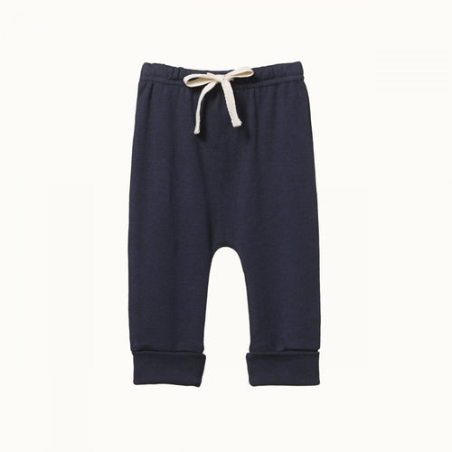Cotton Drawstring Pants - Navy