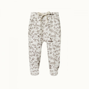 Cotton Footed Rompers - Barnyard