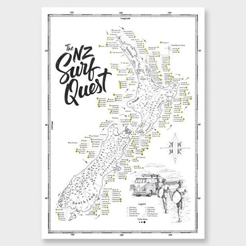 NZ Surf Quest Poster