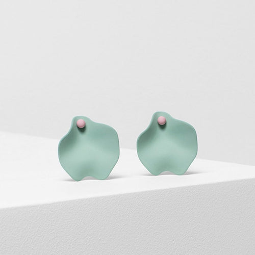 Petal Earring - Mint/Rose
