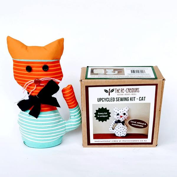 Upcycled Sewing Kit - Cat