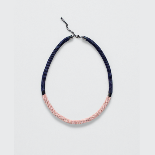 Rek Necklace - Silver/Pink/Midnight