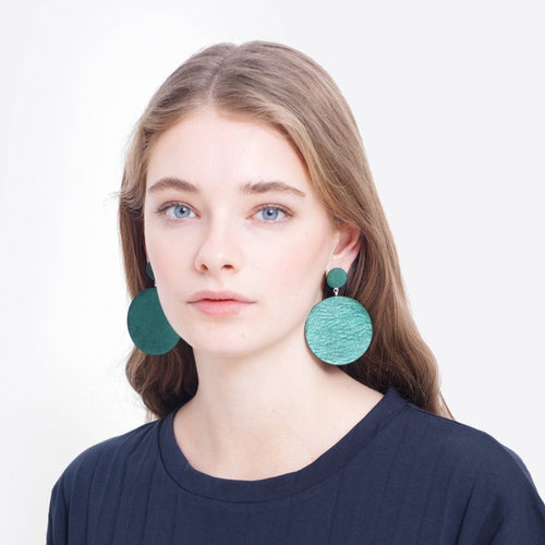 Salla Earrings - Deep Turquoise & Green