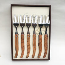 Load image into Gallery viewer, Table Forks Gift Set - Olive Wood