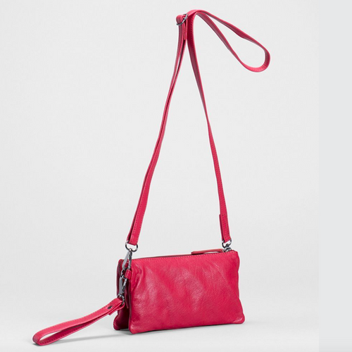 Triple City Leather Bag - Red