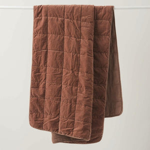 Washed Velvet Quilted Throw + Colours
