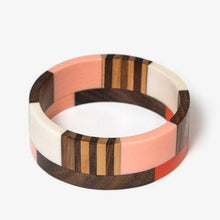 Load image into Gallery viewer, Wide Wooden & Resin Bangle + Colours