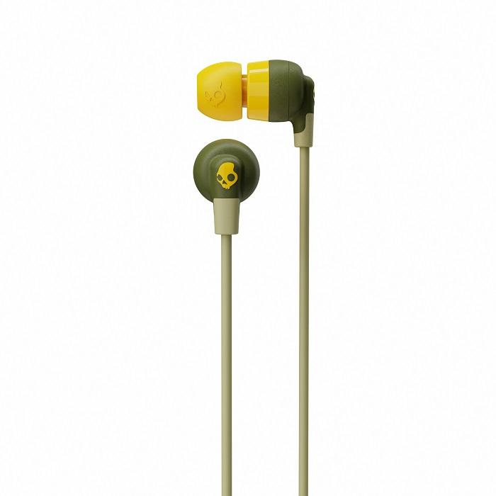 Osixstore Audifono, Auricular, Bluetooth, wireless, inalambrico, in ear, Skullcandy, Ink'd + Wireless, Ink'd Wireless Oliva Amarillo, Olive Yellow, Verde Amarillo, Amarillo con Verde, Skull candy, 8 horas de bateria, ejercicio, deporte, para oficina, estudiar, ver peliculas Microfono, (Bose JBL Beats Sony) S2IQW-M687.