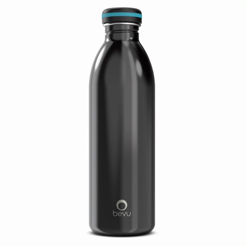 Bevu® ONE Botella Pared Simple Black 750ml/25oz