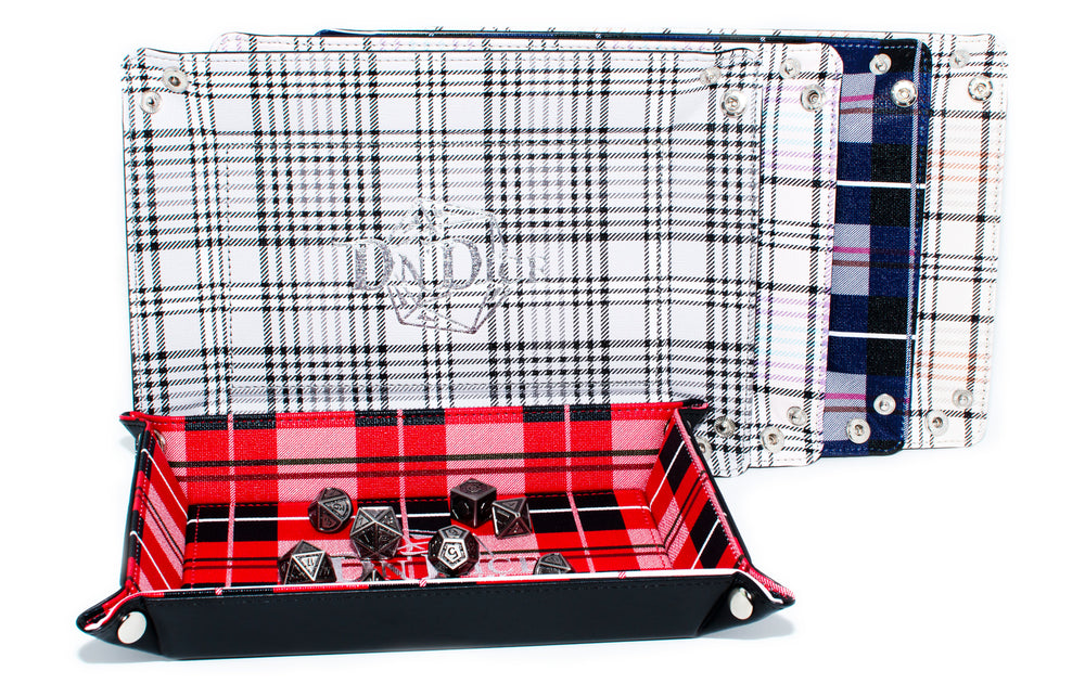Folding Dice Tray in Terrific Tartan