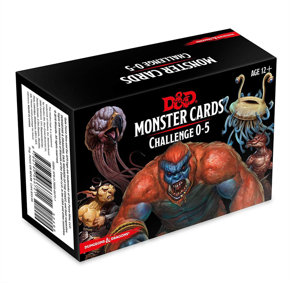 D&D Spellbook Cards - Monsters Challenge 0-5