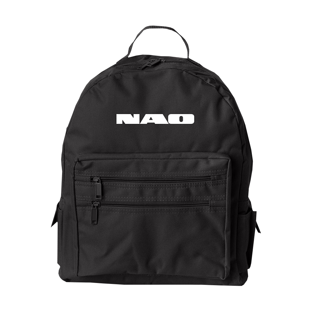 Black Block Logo Backpack
