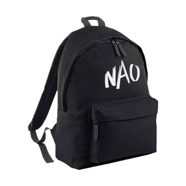 Black Artistic Brush Logo Backpack