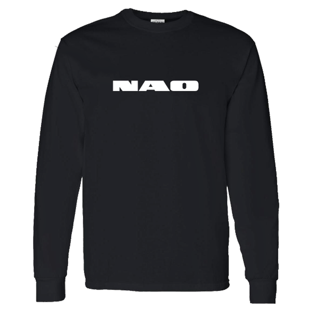 Black Embroidered Crew Neck