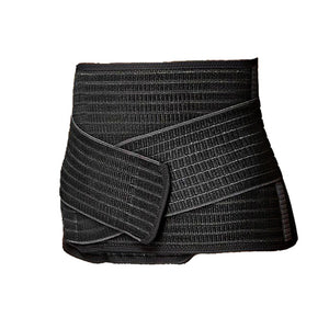 Bamboo Fibre Belly Binder. Made from 60% to 70% bamboo fibre. Black in color. One size fits all.