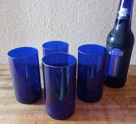 Turning empty beer bottles into awesome drinking glasses