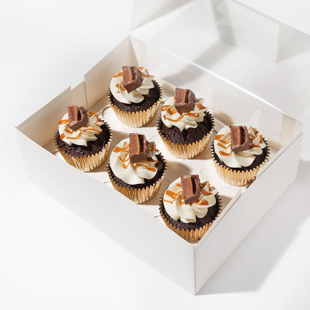 LOADED SALTED CARAMEL CUPCAKES